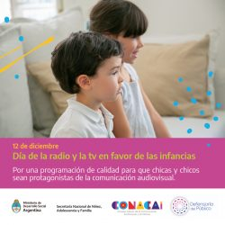 Día Internacional de la Radio y TV a favor de las Infancias